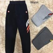 Спортивные брюки утеплені для мальчиков Active Sports 134/146р сірі.