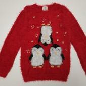 Нарядные новогодний свитерок George на 10/11 лет. Крутые лоты только сегодня!