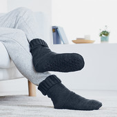 Теплющие носки-тапочки на флисе Tchibo(Германия), размер 40-42
