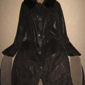 Шикарное пальто кожа мех норка пог 66 турция
