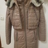 Куртка 2в1 (куртка+жилет) Цвет -мокко