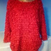 Очень красивый нарядный свитер ,бестки бахрома в идеальном состоянии!Подойдет на праздники!!!