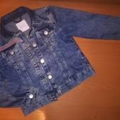 Next, джинсовая куртка для девочки, на 8лет,на рост 128