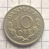 Монета Дании 10 эре 1964