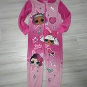 Плюшевая слип пижама лол 6-7лет замеры на фото