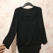 Стильная черная блуза на запах Zara ! УП скидка 10%