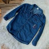 Вау! Класснючая рубашка из тонкого джинса на 1,5/2года в идеальном состоянии