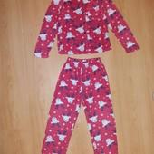 Отличное состояние!Тёплая флисовая пижама на 7-8 л и р 122-128 см!