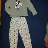 Без дефектов!Симпатичная хлопковая пижамка на 8- 9 л и р 128-134 см!