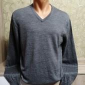 Собираем лоты!! Мягкий мужской свитерок, размер L, 100 %мериновая шерсть