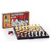 Готовим подарочки деткам!! Набор 3 в 1 шашки/шахматы/нарды, магнитные, в коробке!!