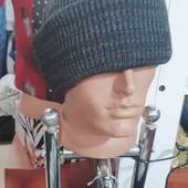 вязаная шапка без флиса,очень теплая