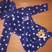 Махровый халат Baby для мальчика на 12-18 месяцев, на рост 86