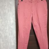 Фирменные новые красивые коттоновые мужские брюки р.40R на пот-51-52, поб-62