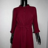 Качество! Стильное платье/рубашка цвет бургунди от американского бренда Papaya, в новом состоянии
