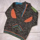 Стоп! ❤Только для модника!Крутой фирменный свитерок,7/8 лет❤Собирайте лоты,экономьте на доставке