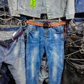 Новые стрейчевые джинсы, р. 32, поб 47 см, пот 40 см. Высокая талия