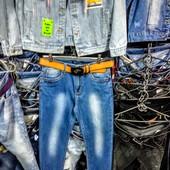 Новые стрейчевые джинсы, р. 31, поб 48 см, пот 39 см