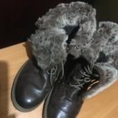 Ботинки утепленные кожаные Weinbrenner р.38.Оригинал