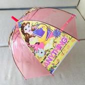 Зонт для девочки зонтик детский прозрачный купольный