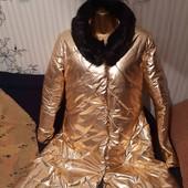 Последнее новое золотое пальто,размер 48-50 или L-XL.