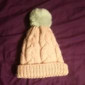 Зимняя шапка клокхаус. с мехом. Можно на взрослого