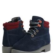 Натуральные теплые ботинки
