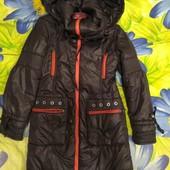 Длинная демисезонная куртка 7-9 лет