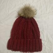 Классная теплая моднячая шапочка в отличном состоянии✓Много лотов✓