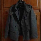Фирменное утепленное пальто-бушлат WE