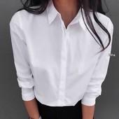 Базовая белая рубашка, размер S