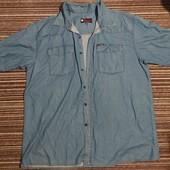 Мужская джинсовая рубашка,на большого мужчину, размер 66. Оригинал.