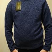 Теплый свитер гольф на мальчика, водолазка, р. 134-140. Украина