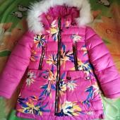 Теплая зимняя курточка! Р. 122