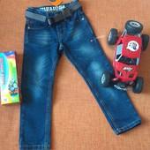 Крутые джинсы с поясом