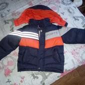 Куртка теплая на рост ДО 125см