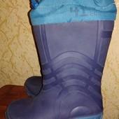 Резиновые сапоги на утеплении размер 27-28