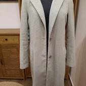 Серое брендовое пальто New look, S,M. Готовимся к весне
