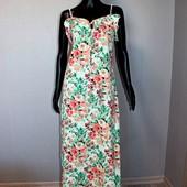 Качество! Очень нежное летнее макси платье в цветочный принт Boohoo, в новом состоянии
