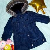 Супер классное фирменное пальтишко на малышку 1-1,5 годика