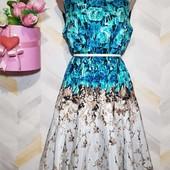 Платье миди нарядное пышная юбка р14