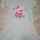H&M Платье хлопковое на 4-6лет замеры на фото