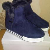 Женские зимние ботинки, р.36 - 22.8 см