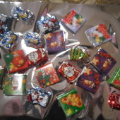 Сладкий подарочек)Все,что на фото.150 грамм вкуснейших новогодних конфет в подарочном пакете