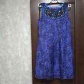 Фирменное красивое платье из натурального шелка р.12-14 в отличном состоянии.