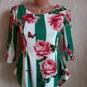 Итальянская стрейчевая блуза в стиле Дольче габбана, Dolce gabbana