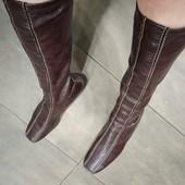 Кожаные сапоги чулки. 24,5 см
