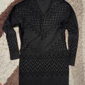 Теплое зимнее платье 42-46размера