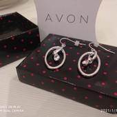 Сережки Avon, Нові, сріблясті