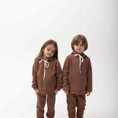 Детский тёплый костюм мокко